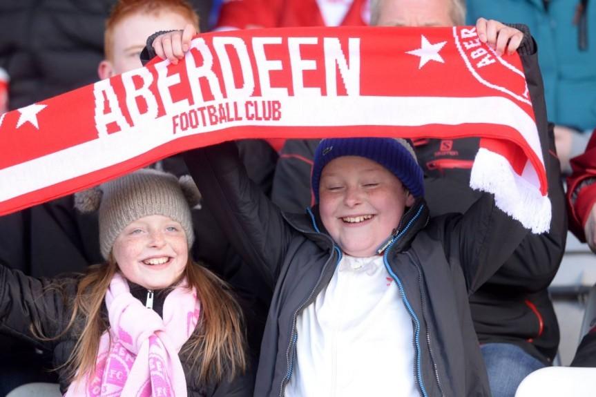 Young Aberdeen fans anticipate kick off