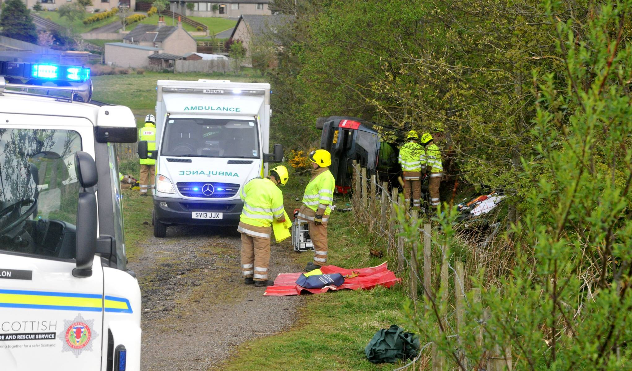 The car went off the A90 this morning.