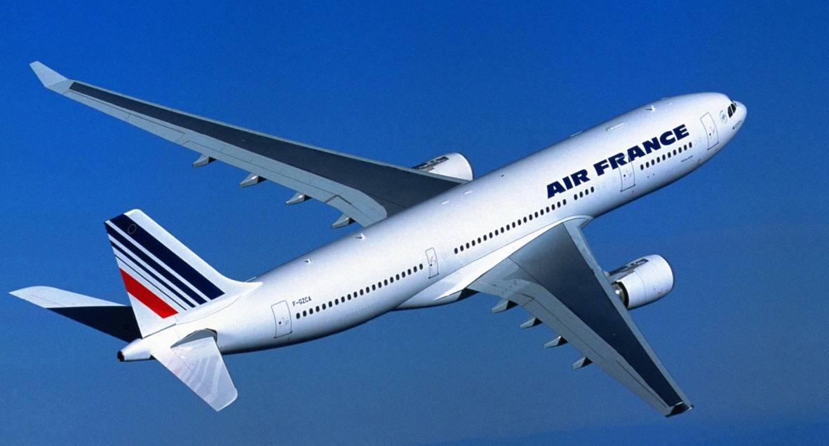 The Air France flight was heading to Paris from Aberdeen.
