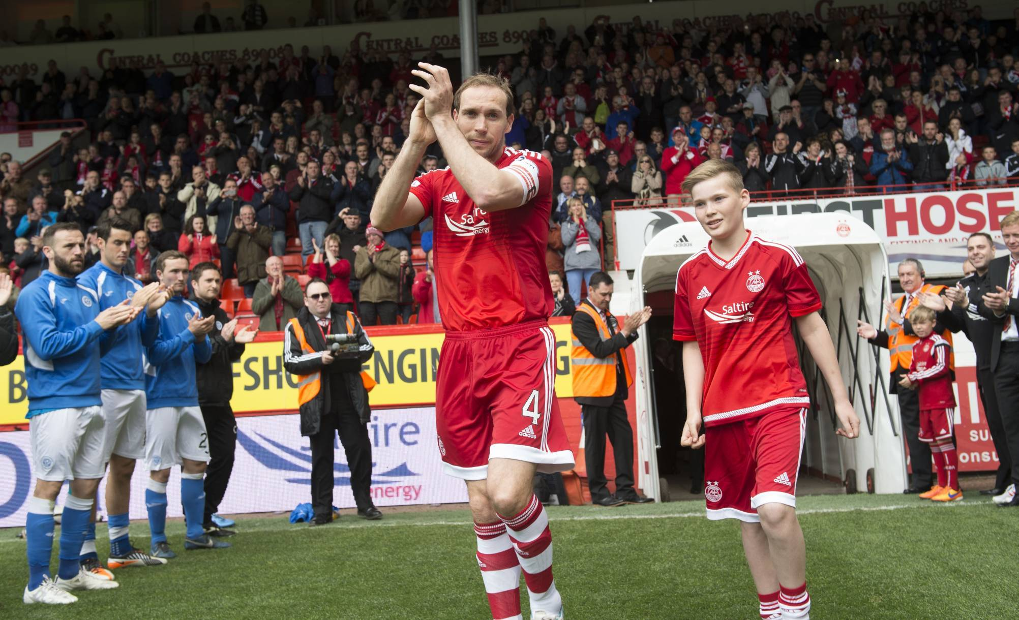 Russell Anderson ahead of his last game at Pittodrie.