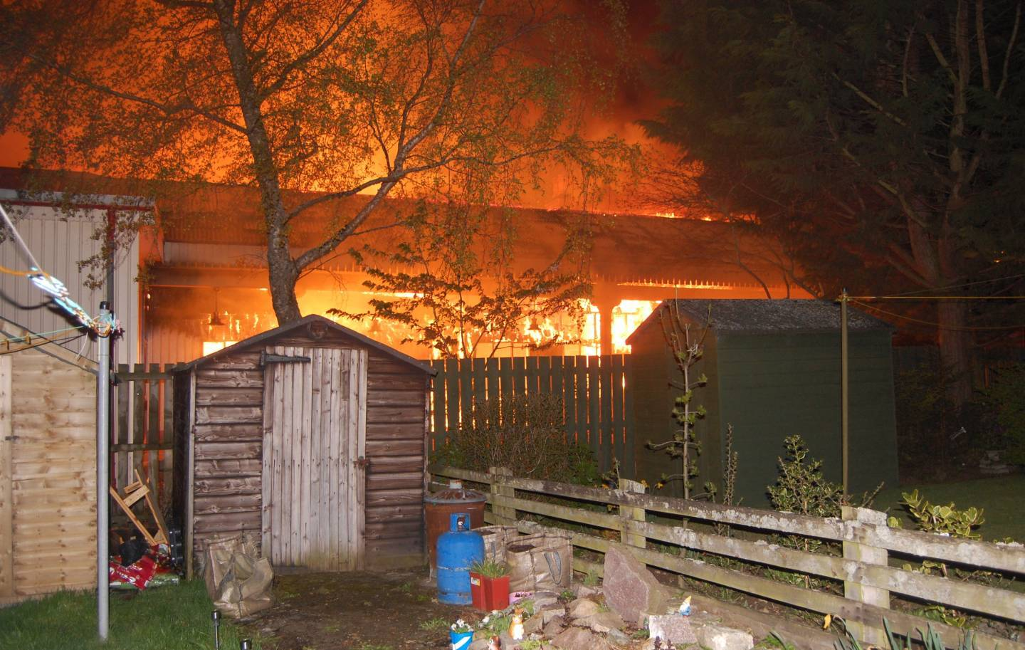 The fire in Ballater. Picture by reader Terry Gauld.