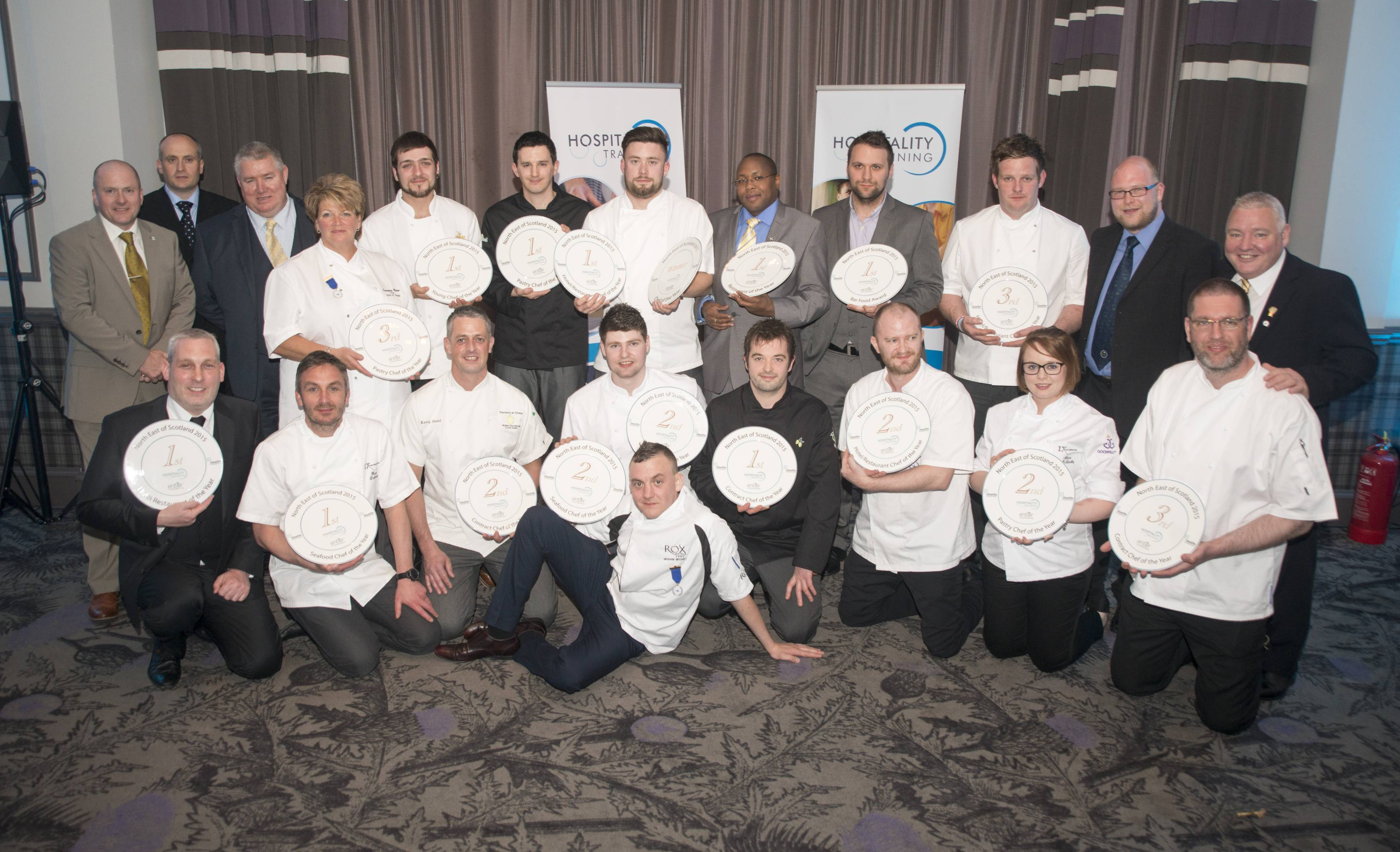 The winners and runners-up at the North East of Scotland Chef and Restaurant Awards.