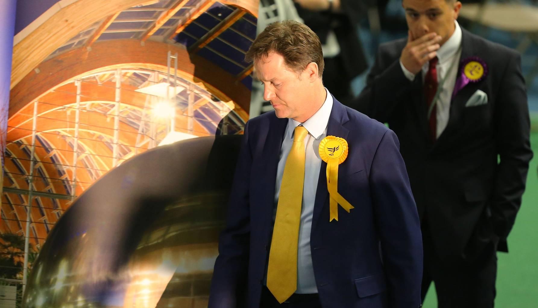 Liberal Democrat leader  Nick Clegg resigned today