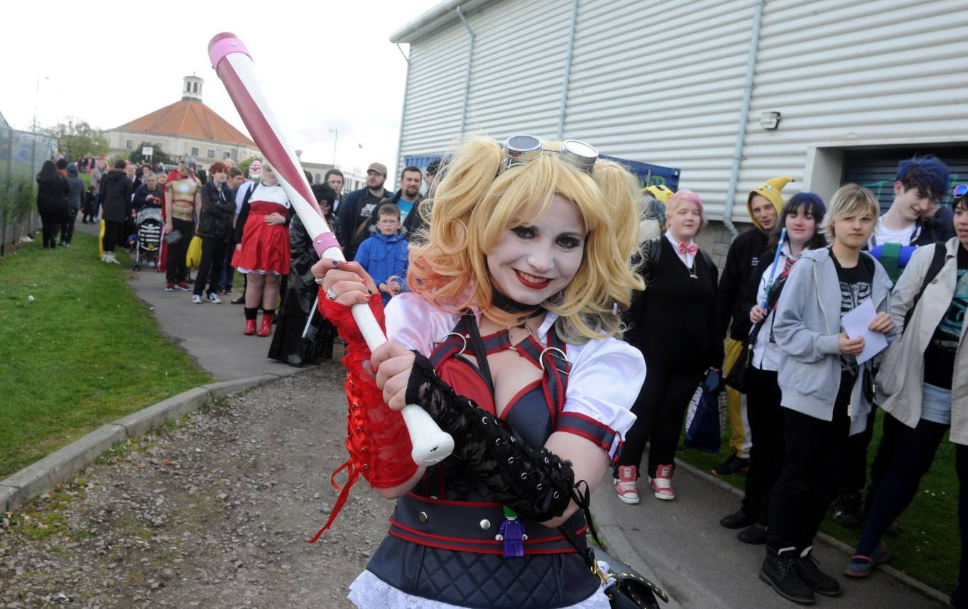 Taran Read was one of thousands to attend yesterday's Granite City Comic Con at Transition Extreme in Aberdeen