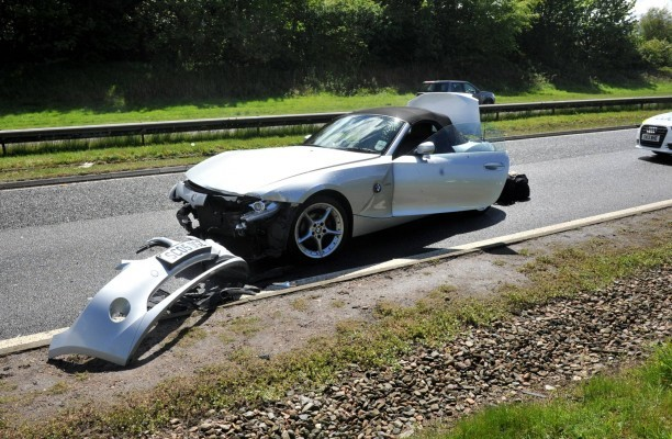 A BMW Z4 was involved in the crash