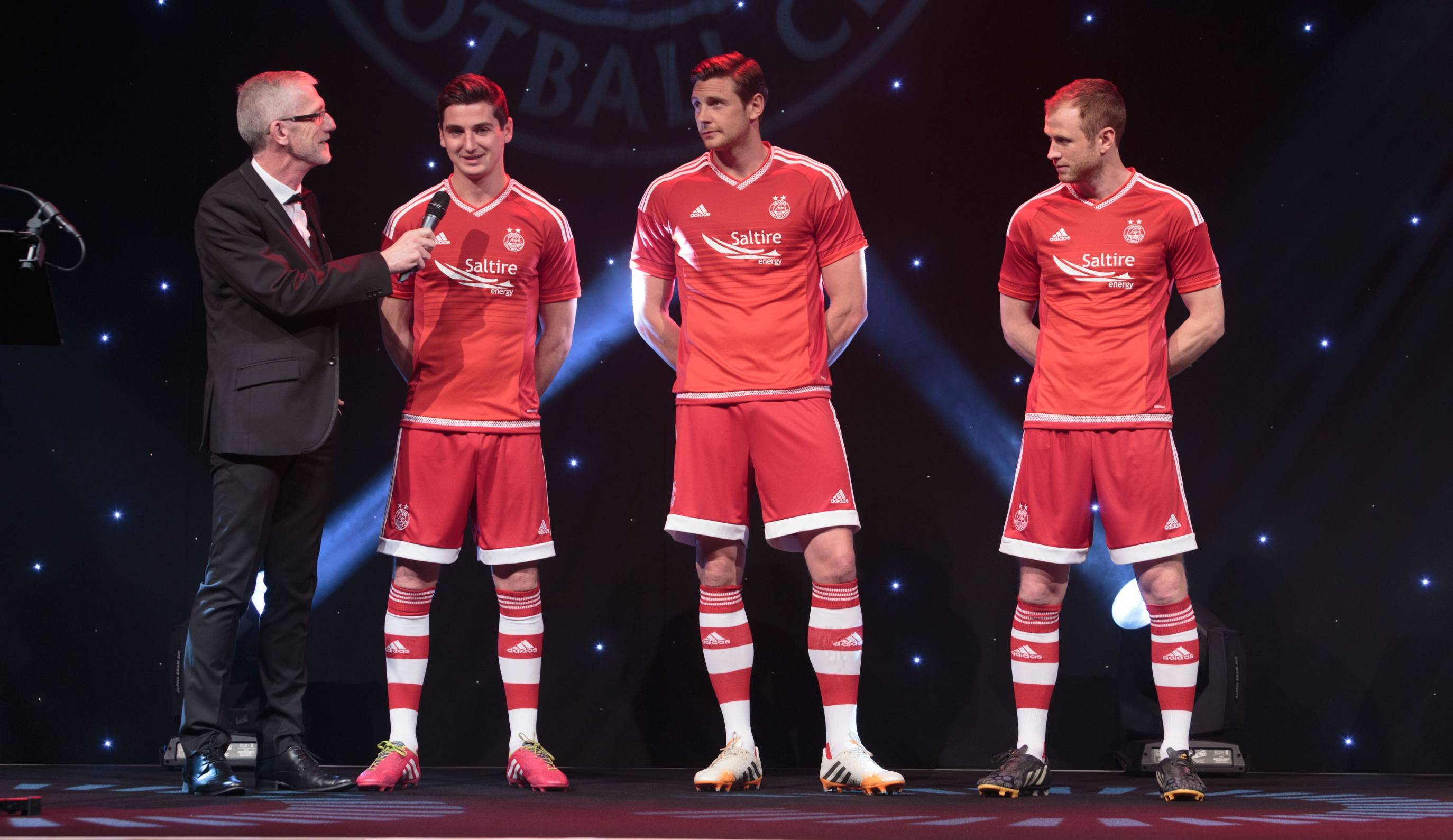 Kenny McLean, Ash Taylor and Mark Reynolds presented the new kit at the AECC
