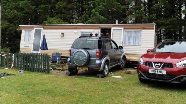 Andrew MacKay died in the crash at East Balthangie Caravan Park near Cuminestown.