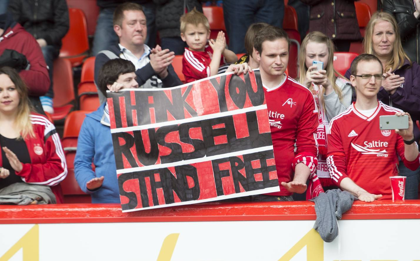 The Aberdeen fans gave Russell Anderson a send-off he'll remember