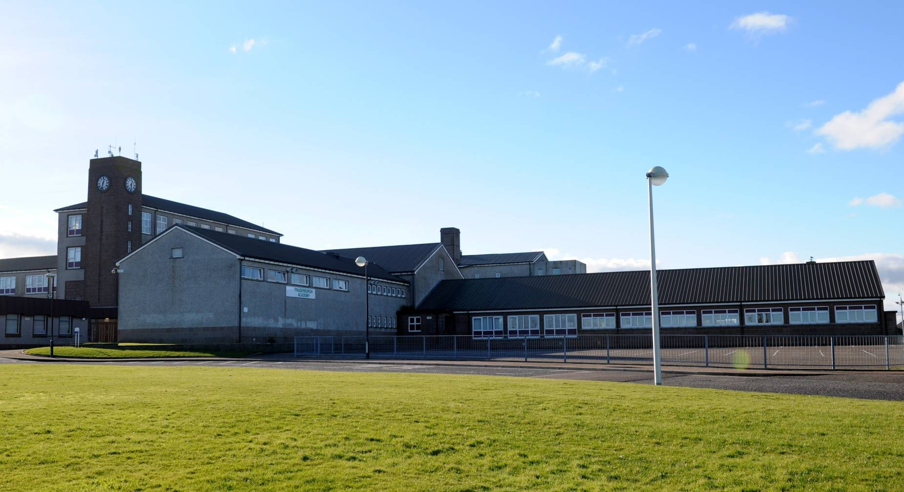 Broken windows at Fraserburgh Academy are believed to cost more than £10,000 to replace