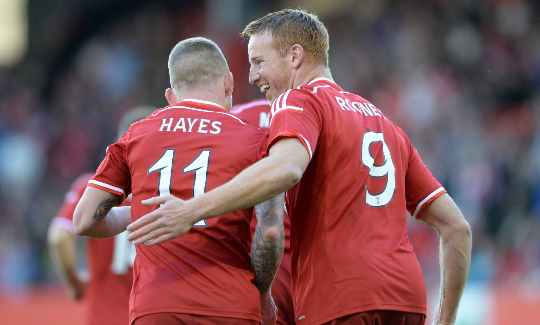 Differing fortunes for Dons duo Jonny Hayes and Adam Rooney.