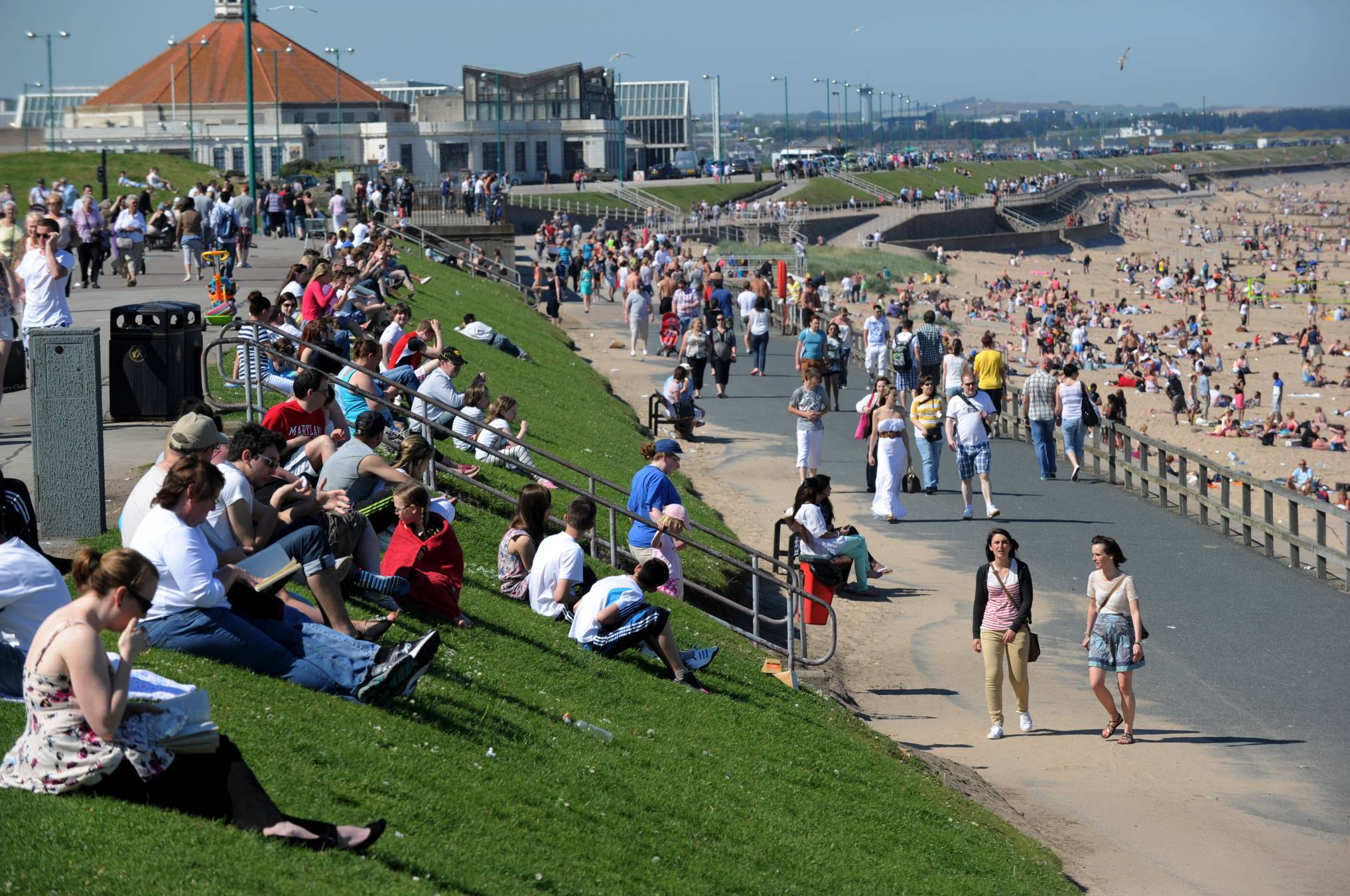 Sunseekers at Aberdeen beach during one of our rare heatwaves in 2012