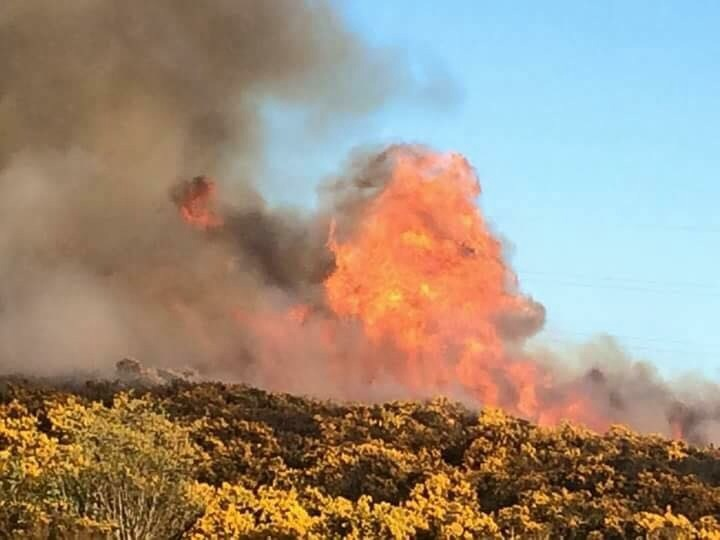 The Gramps fire taken by reader Hollie Smith.