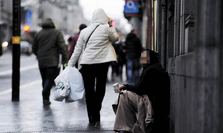 Beggars in Aberdeen have been hit hard by the lockdown