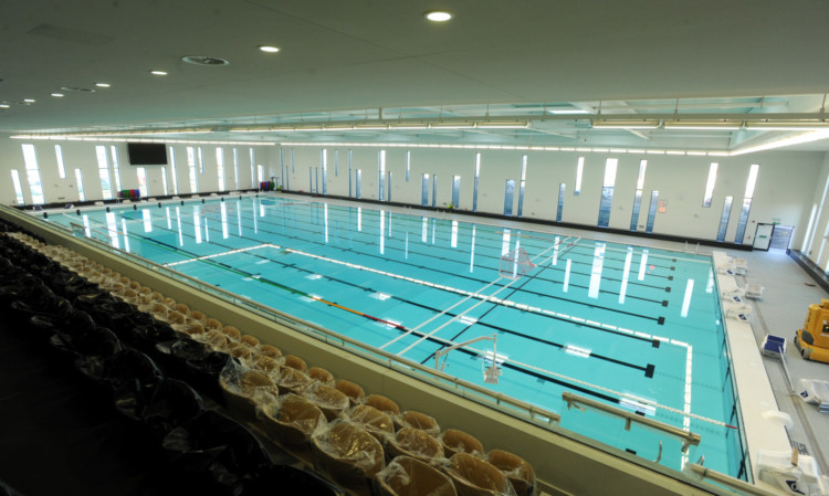 Aberdeen Sports Village's Olympic swimming pool.