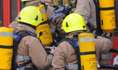 The Scottish Fire and Rescue Service were called to the scene.