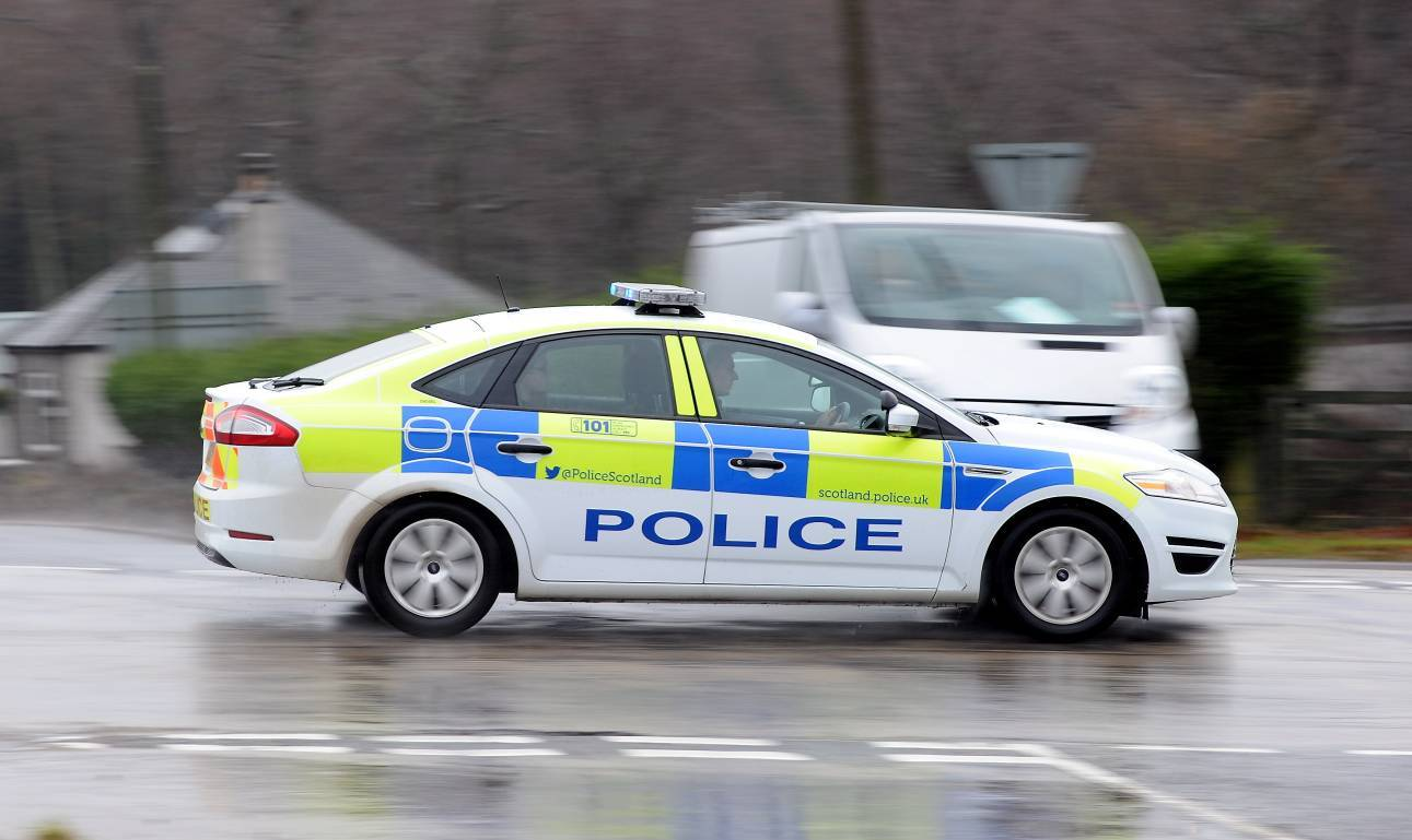 The incident happened at around 3.30pm on the B9125 Garlogie to The Birks road near Echt