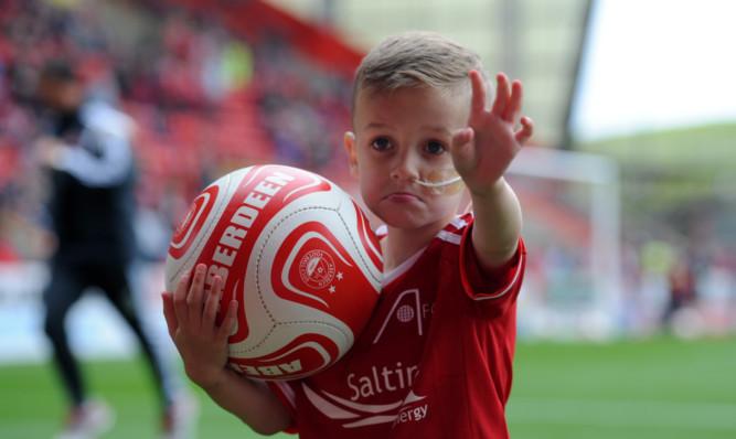 Ashton Hutcheson on his big day.
