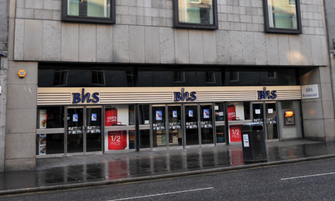 BHS in Aberdeen is now expected to close.