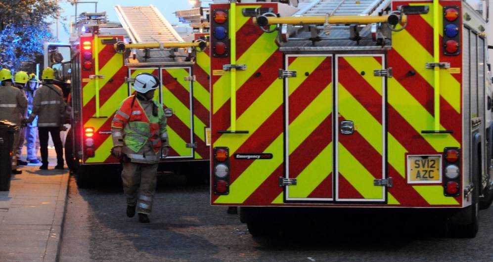 The Scottish Fire and Rescue Service was called to the incident at Buckie.