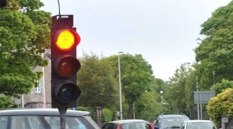 Traffic lights were stuck on red at Parkhill this morning