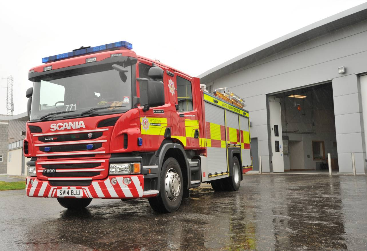 Firefighters were called to the scene at 9.46am