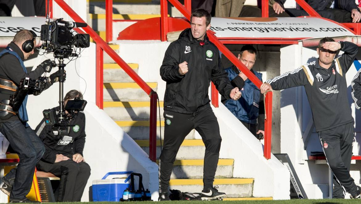 Celtic boss Ronny Deila takes his side to Pittodrie on Sunday.