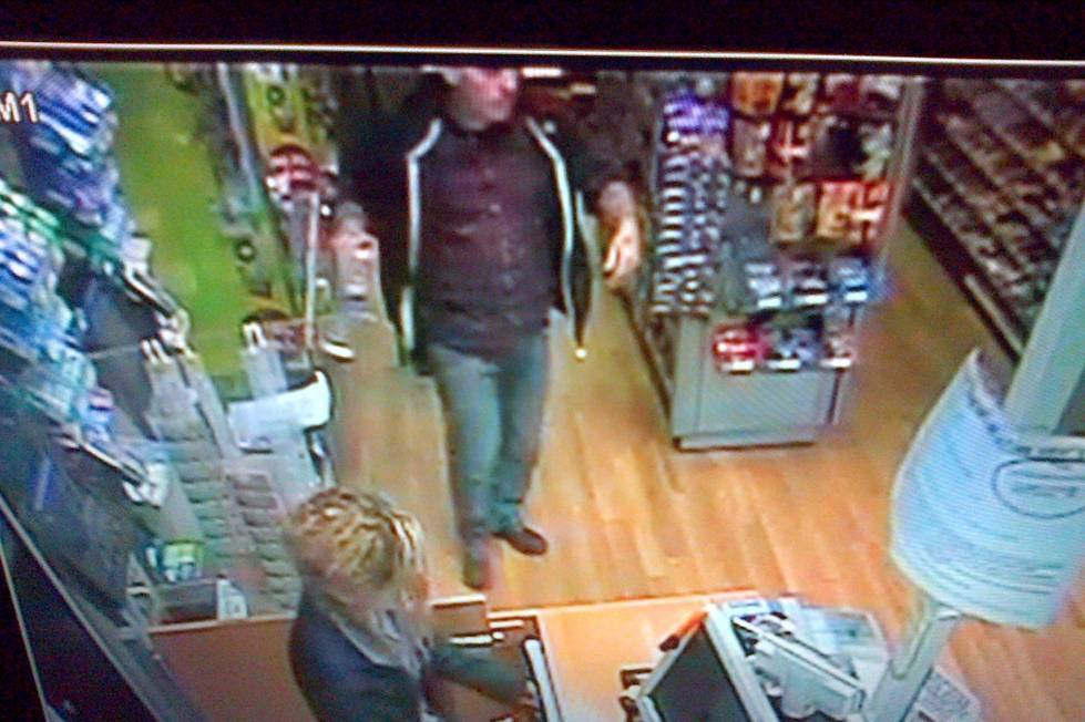 Police released CCTV images of Jed Allen, the man wanted in connection with three murders in Didcot
