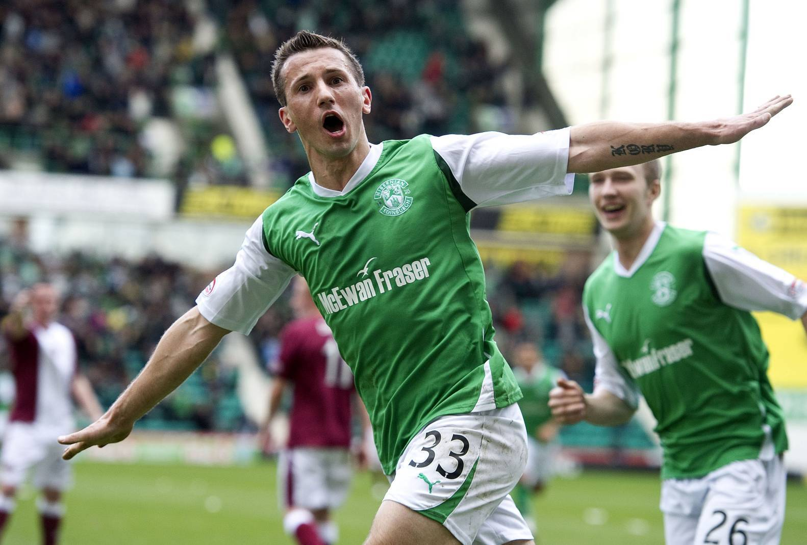 Former Celtic, Hibs and Man United midfielder Liam Miller.