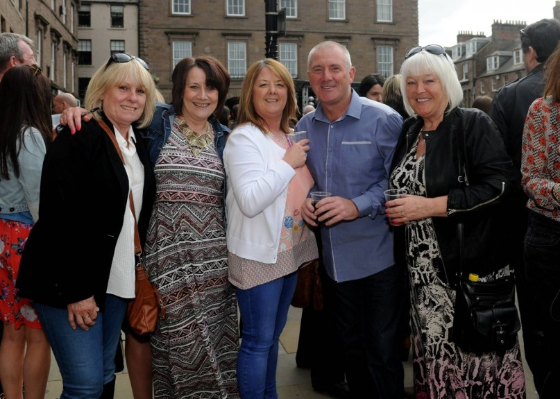 From left: Shirley Bandy, Moira Hunter, Mary Learmonth, Steven Walker and Evelyn Forbes.
