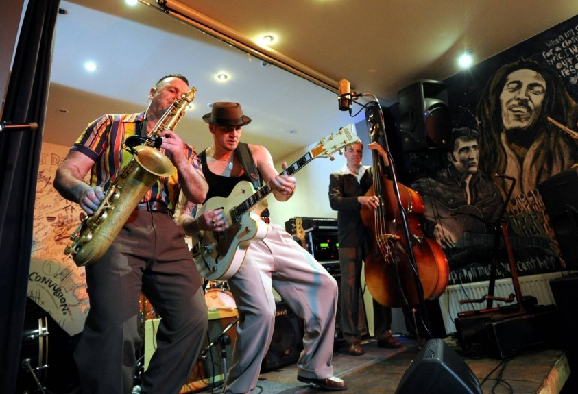 The Revolutionaires at Harry's Bar.