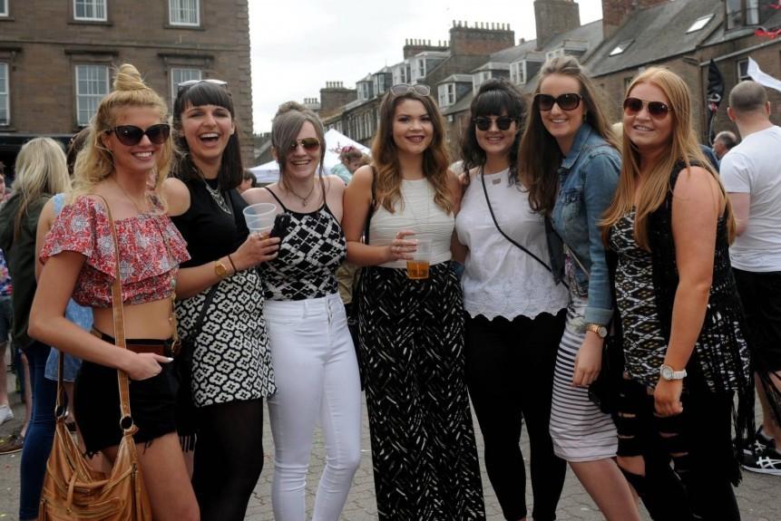From left: Skye Petrie, Helena Gedi, Natalie Donald, Haidee Mowatt, Lucy Cassidy, Katie Burke and Leanne McDonald.