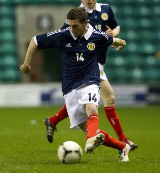 After impressing for Inverness CT Graeme Shinnie made his Scotland U21 debut in 2012.