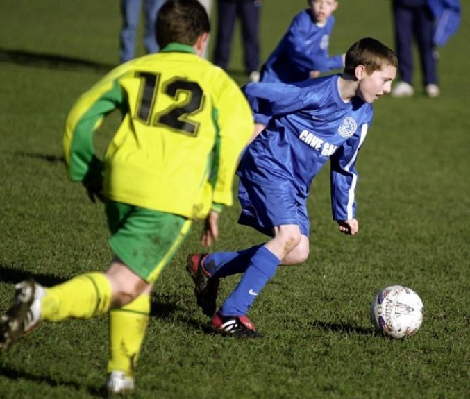 Graeme Shinnie playing for Loirston Primary.