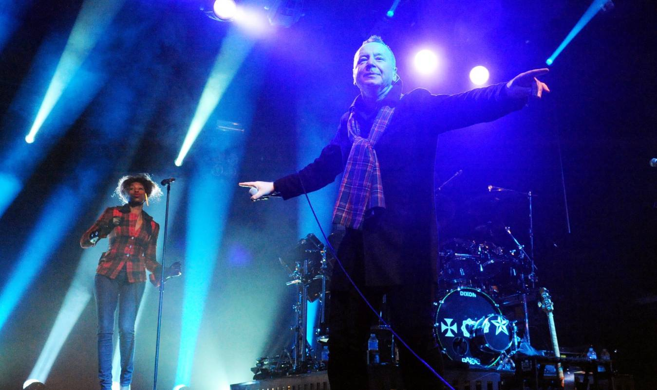 Simple Minds frontman Jim Kerr at Stonehaven's Hogmanay celebration in 2013.