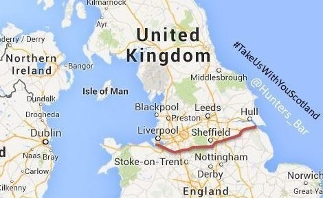 A petition has been launched calling for the north of England to become part of Scotland.
