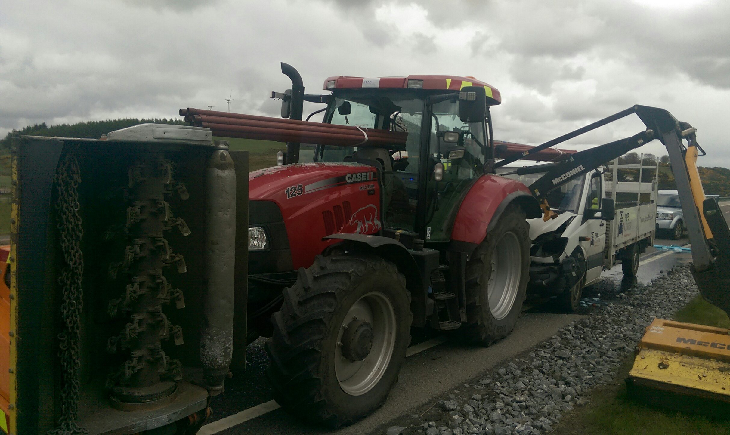 Reader picture of the A96 crash.