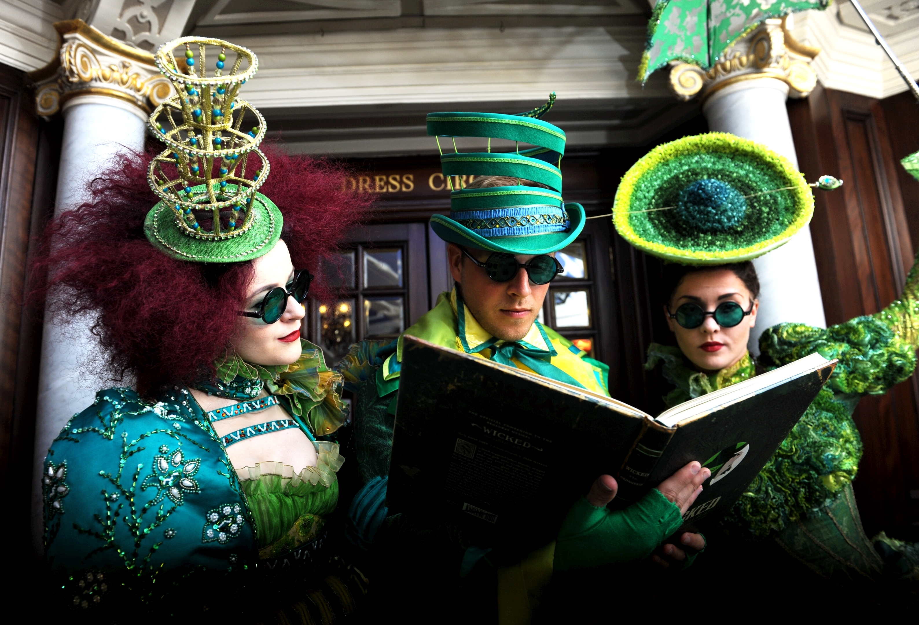 The cast of Wicked at HMT, from left, Sophie-Leigh Griffin, Danny Whitehead and Zoe George. Picture by Darrell Benns.