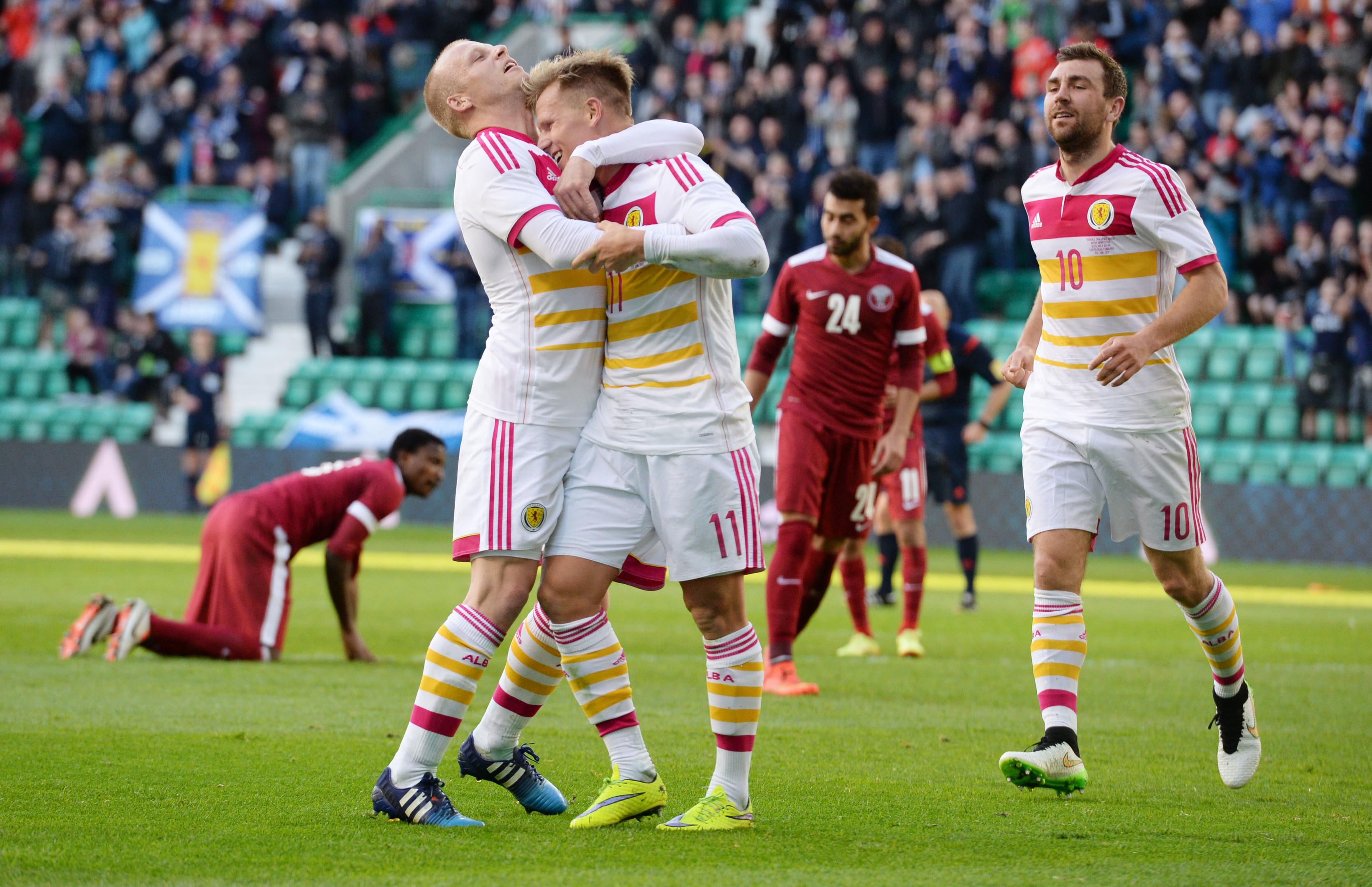 Scotland star Matt Richie celebrates his opening goal
