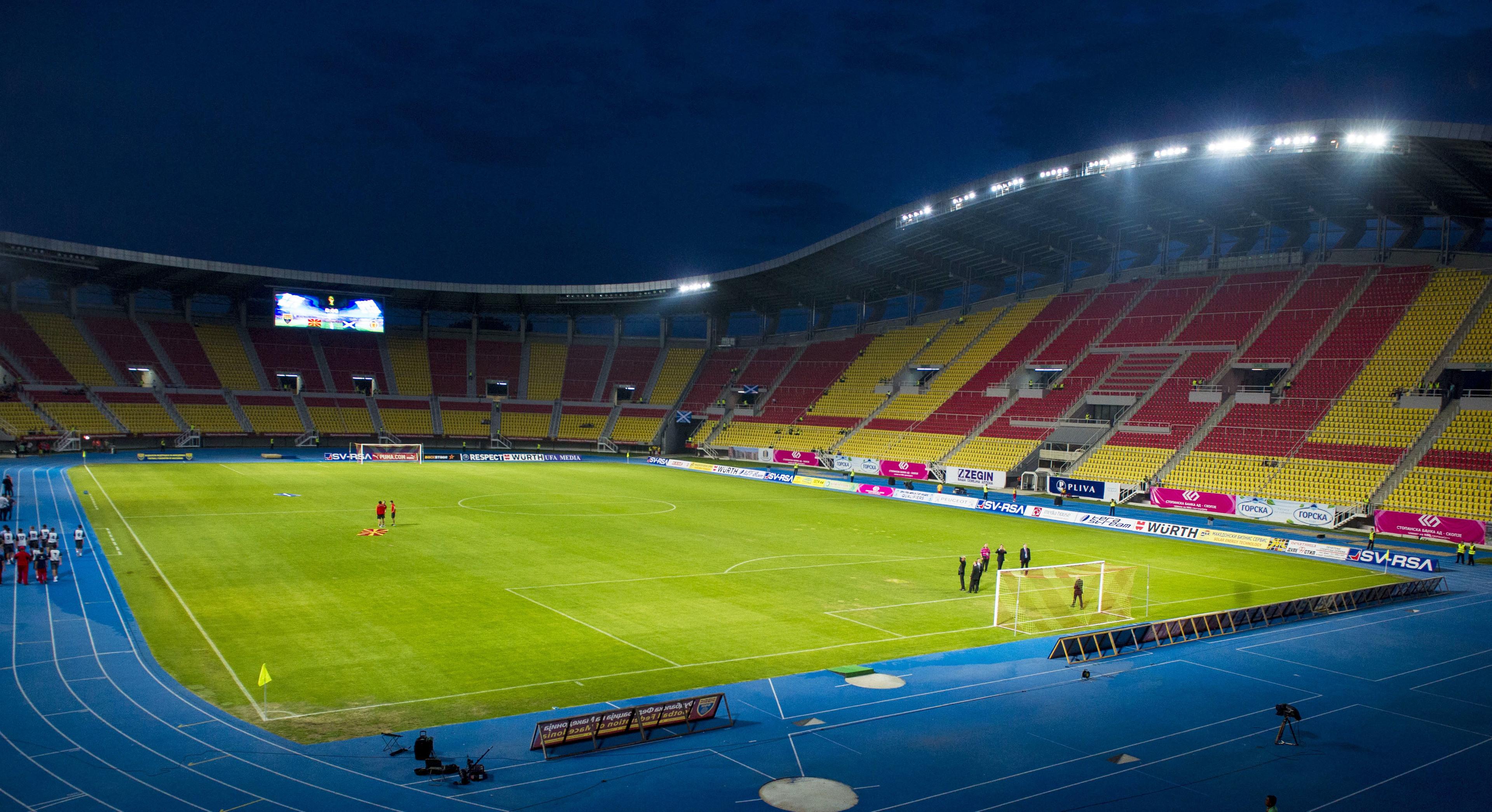 Philip II Arena - home of the Macedonia international team