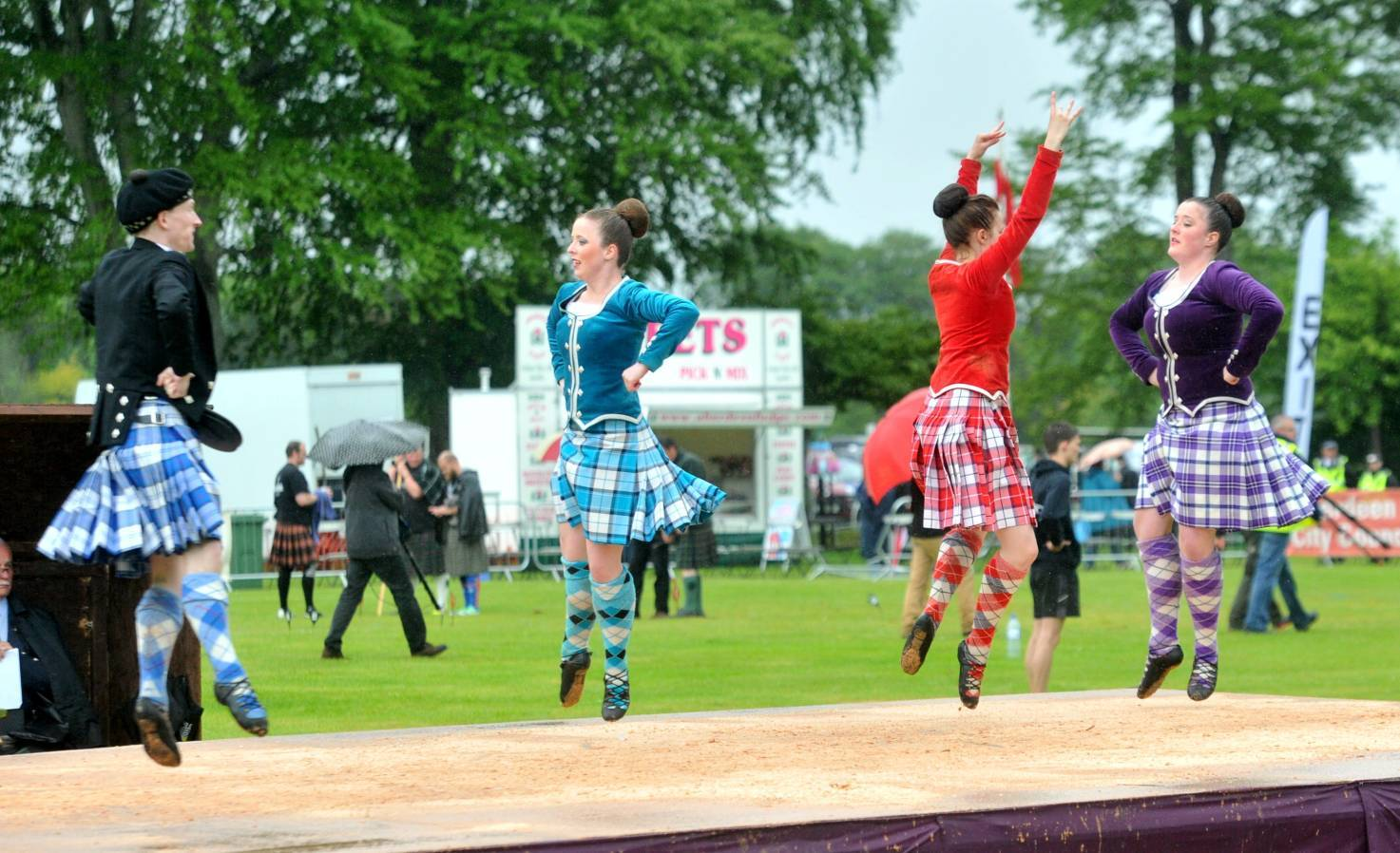 Dancers at the Aberdeen Highland Games.