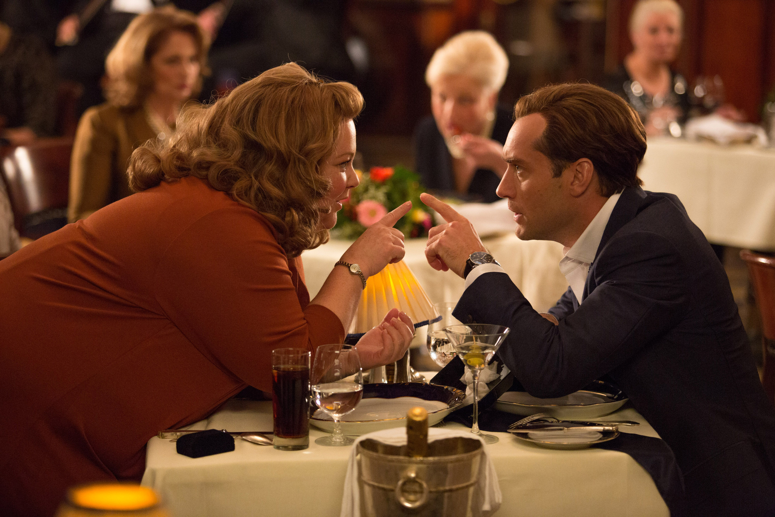 Melissa McCarthy, who plays Susan Cooper,  and Jude Law, as suave secret agent Bradley Fine, in a scene from Spy.
