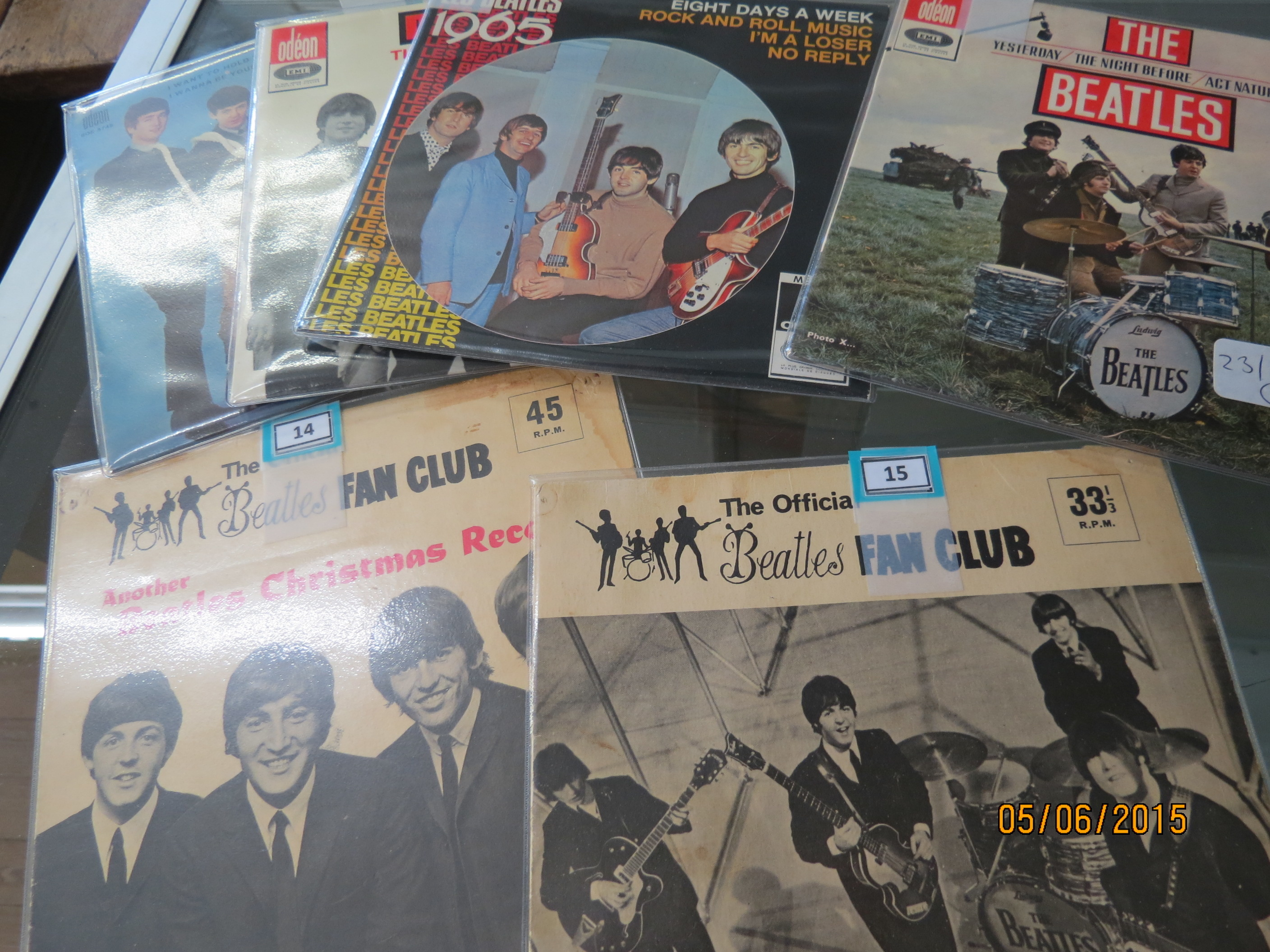 Some of the Beatles collectibles that will be up for auction.