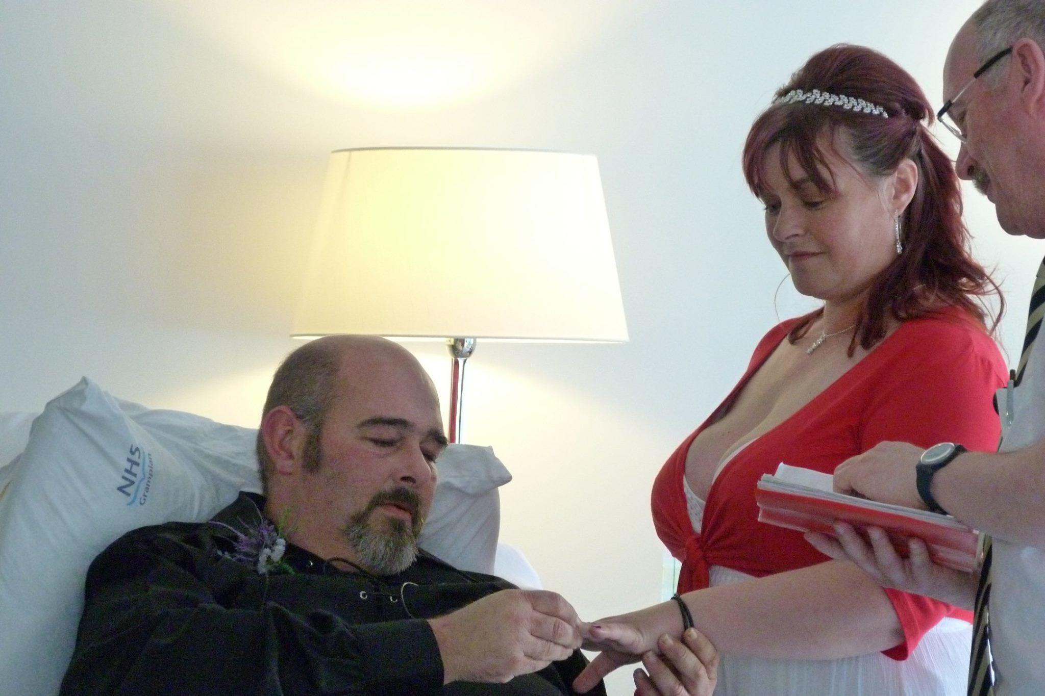 Angela and Craig Babington's wedding at Aberdeen Royal Infirmary.