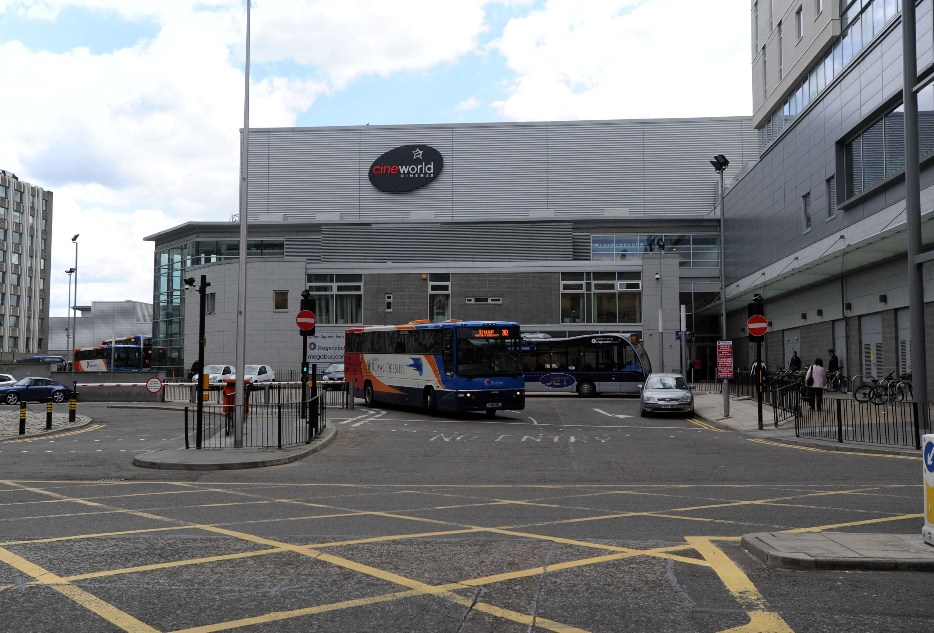 Police were called to a disturbance at Aberdeen bus station this afternoon.