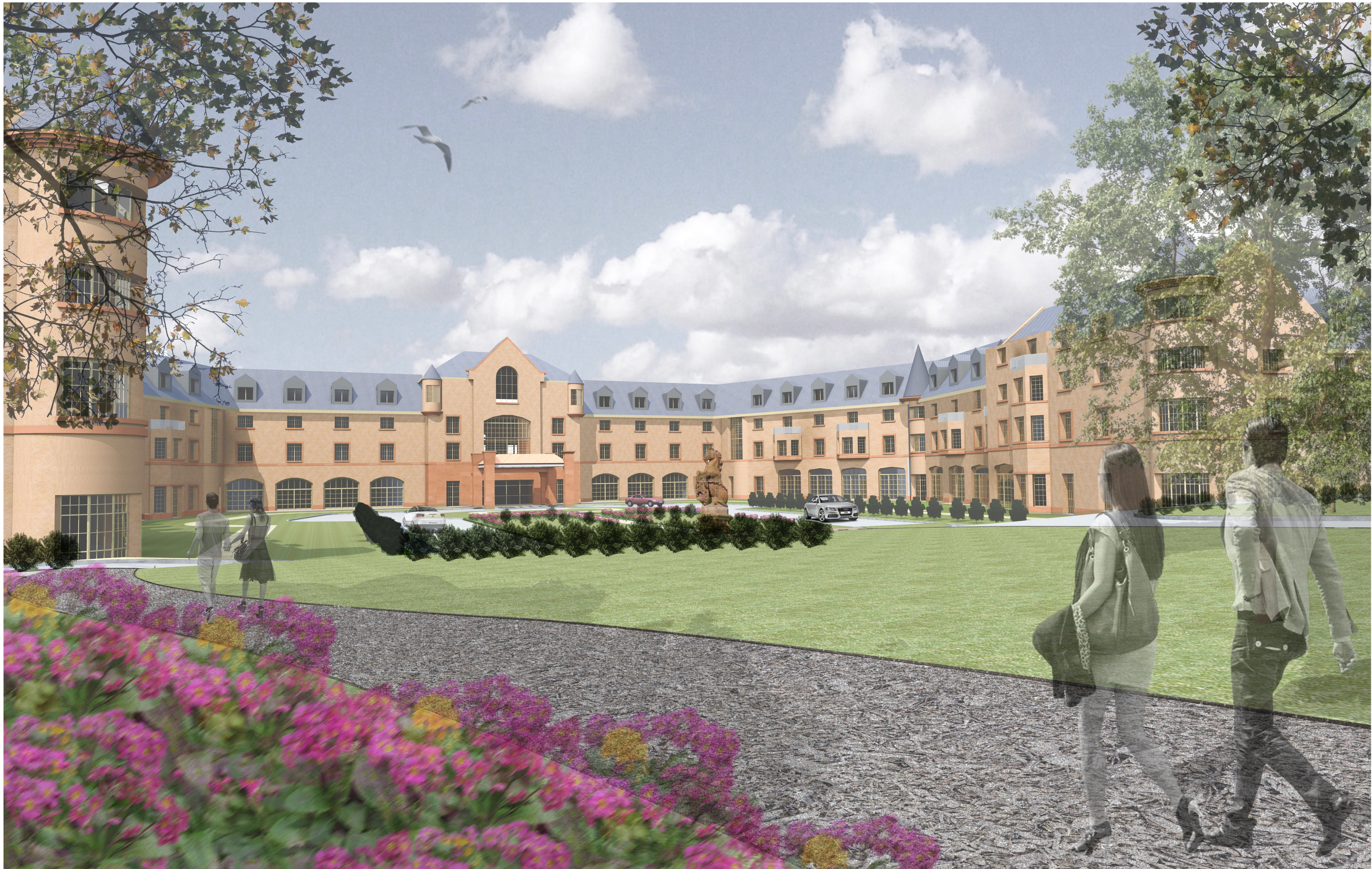 ESTATE:  How the £40 million development at Hazlehead would look.