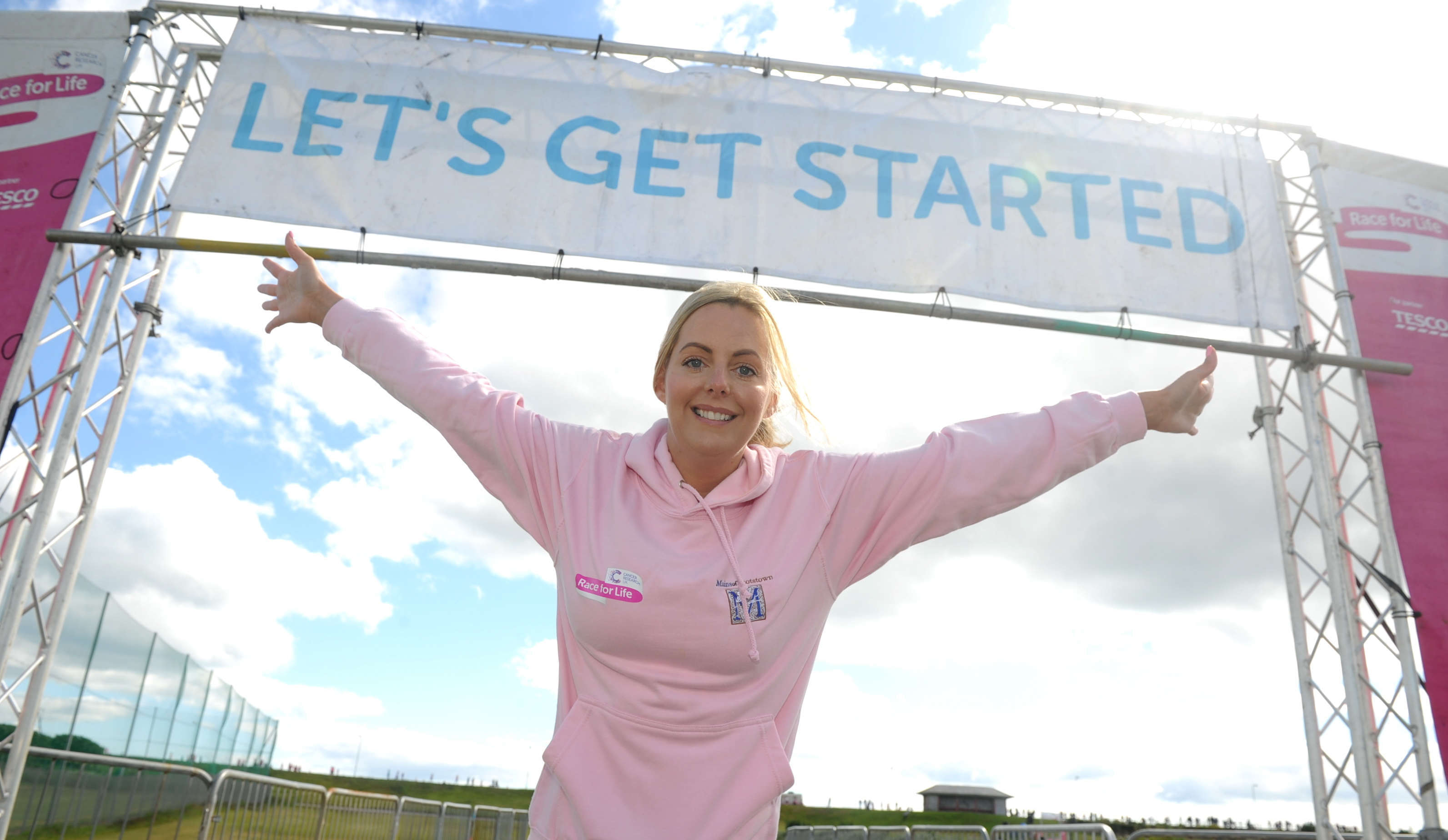 fighting on regardless:  Pamela Soutter, and inset, Susan Milne who started proceedings at the Race for Life.