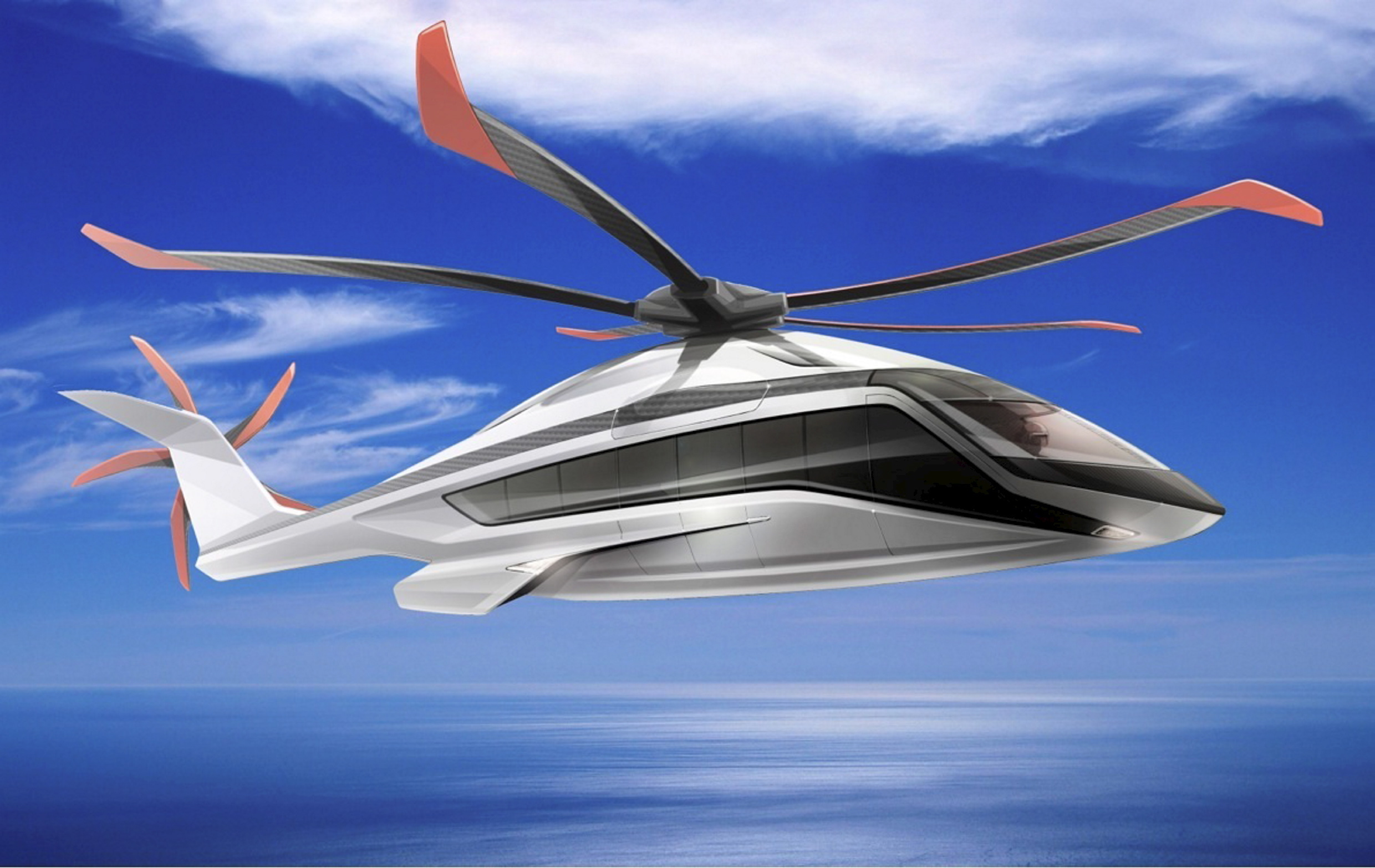 The new Airbus Helicopter X6  concept  has been unveiled as the successor to the Super Puma helicopter family.
