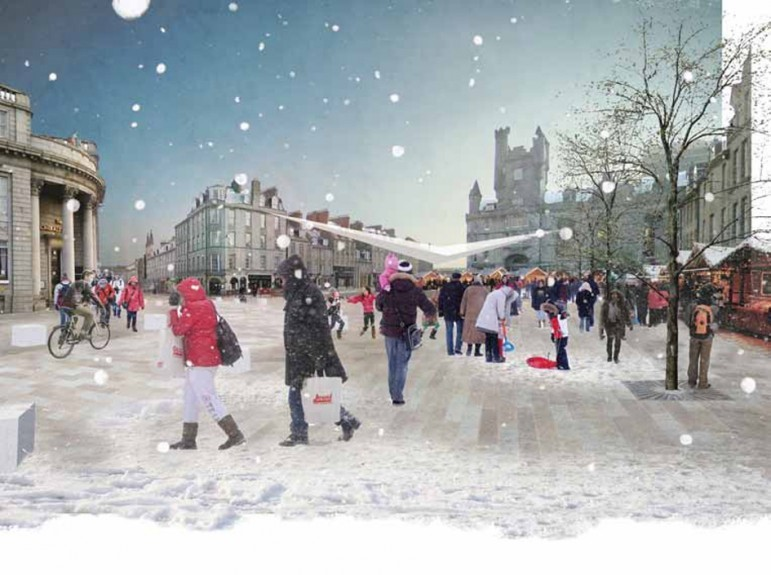 The Castlegate  would be redesigned to 'create an enhanced space for markets, concerts and events'.