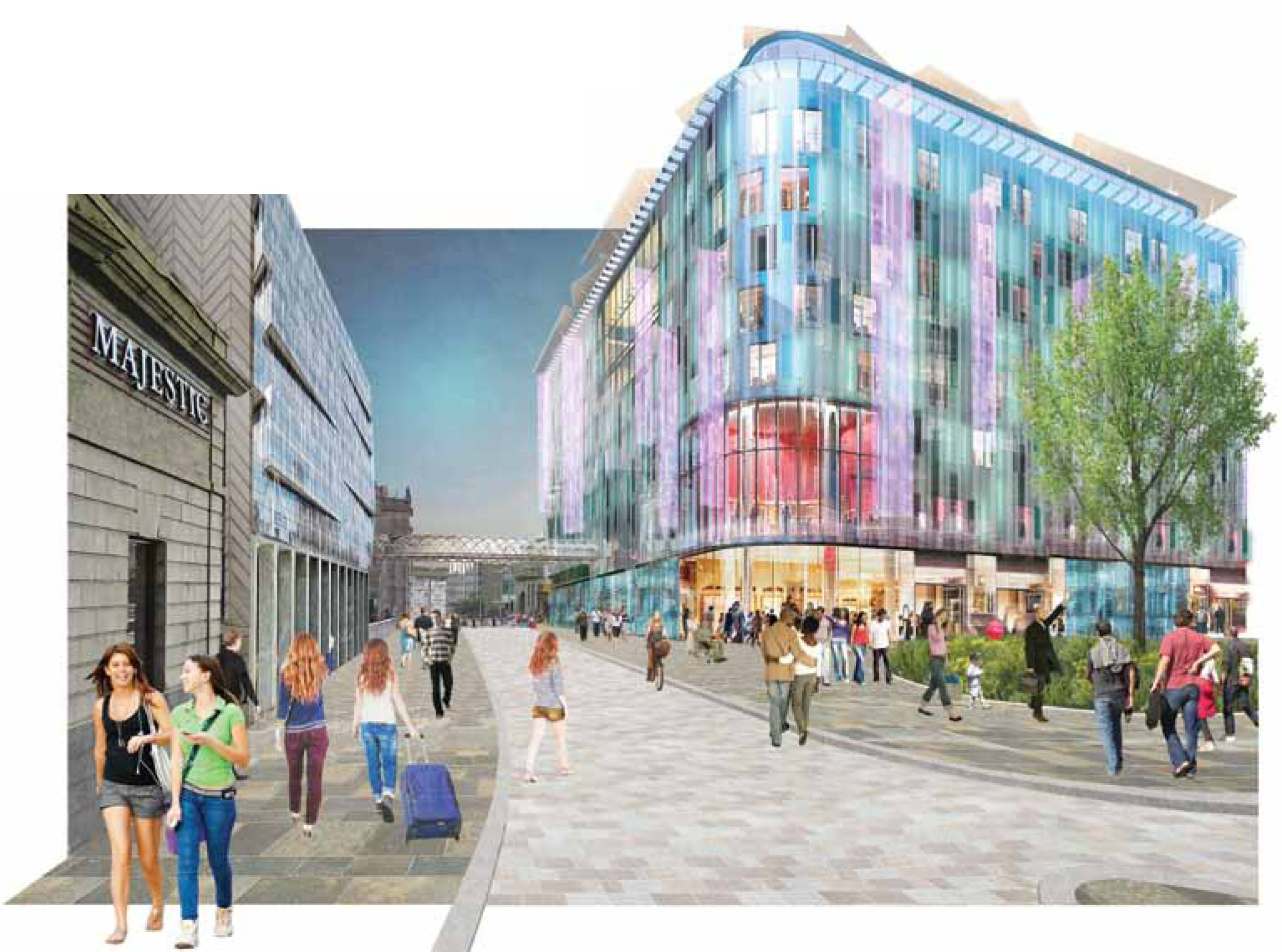 Some colour would be added as the Guild Street area near the train station is regenerated.