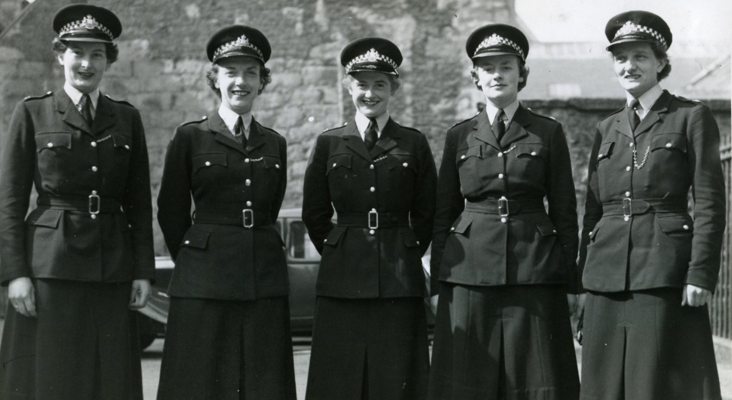 LEADING THE WAY:  A group of five female police officers in 1955.